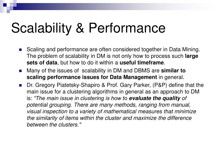 Scalability & Performance