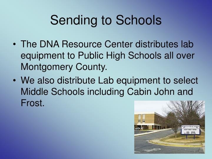 Sending to Schools