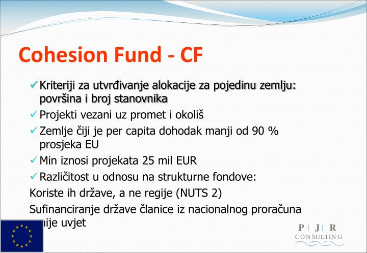 Cohesion Fund - CF