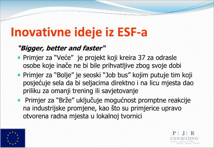 Inovativne ideje iz ESF-a