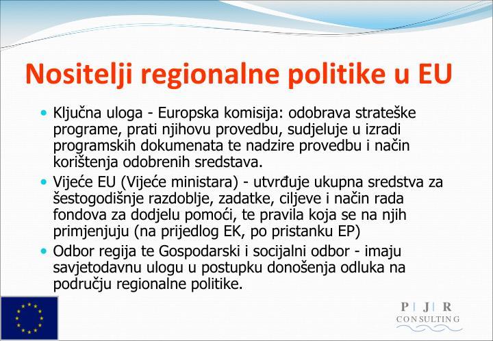 Nositelji regionalne politike u EU