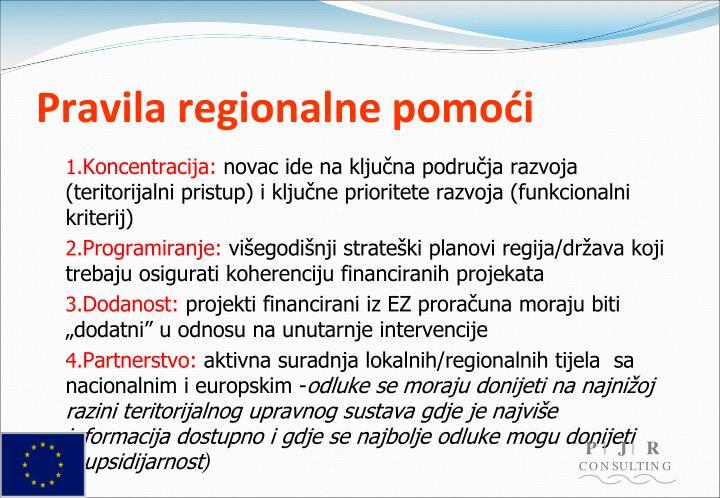 Pravila regionalne pomoći
