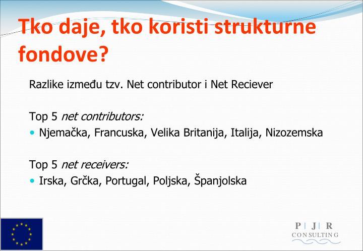 Tko daje, tko koristi strukturne fondove?