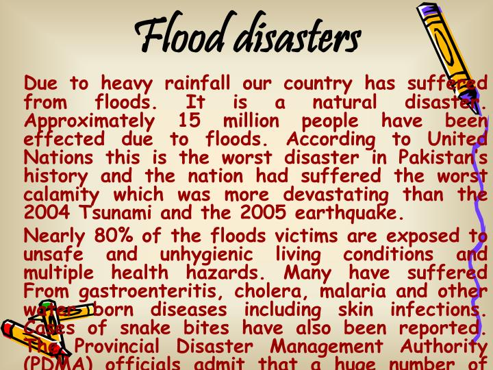 Flood disasters