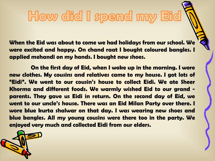 How did I spend my Eid