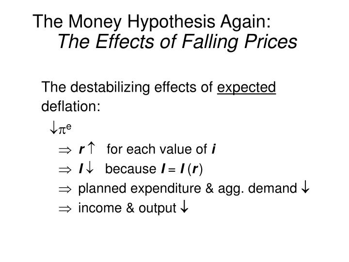 The Money Hypothesis Again:
