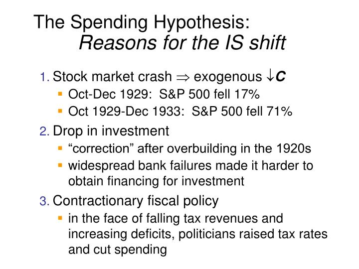 The Spending Hypothesis: