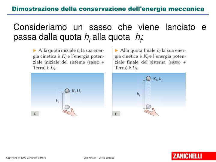 Dimostrazione della conservazione dell'energia meccanica