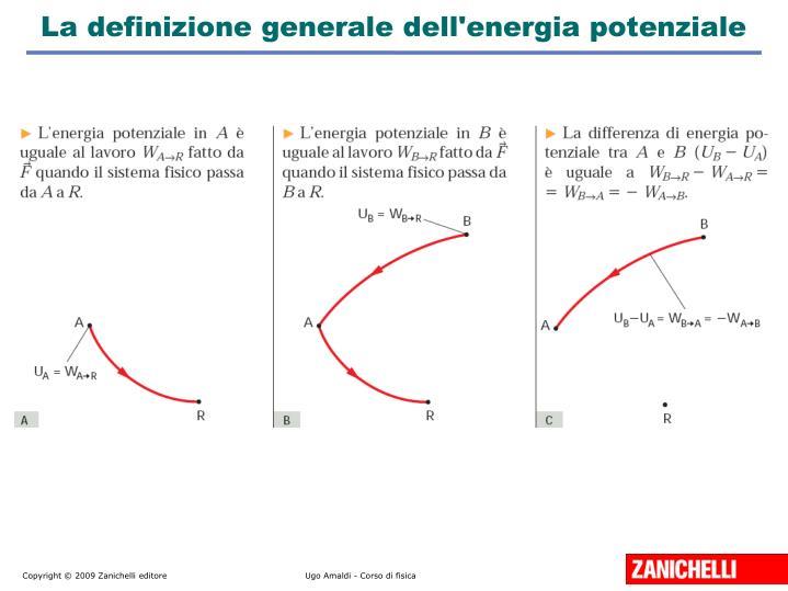 La definizione generale dell'energia potenziale