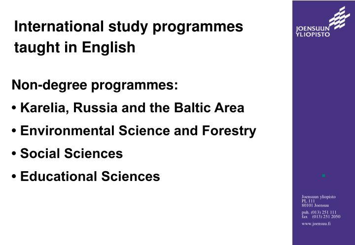 International study programmes