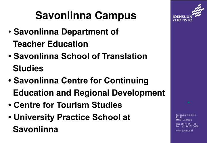 Savonlinna Campus