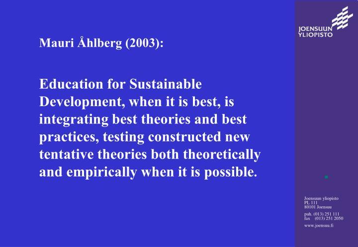 Mauri Åhlberg (2003):