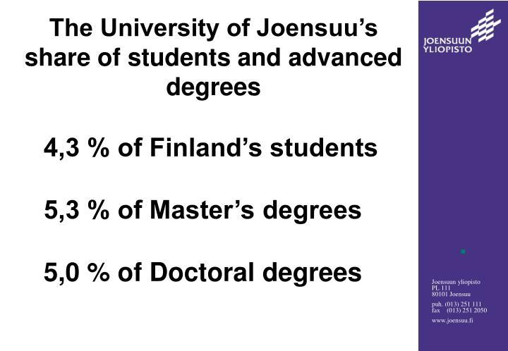 The University of Joensuu's