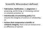 scientific misconduct defined