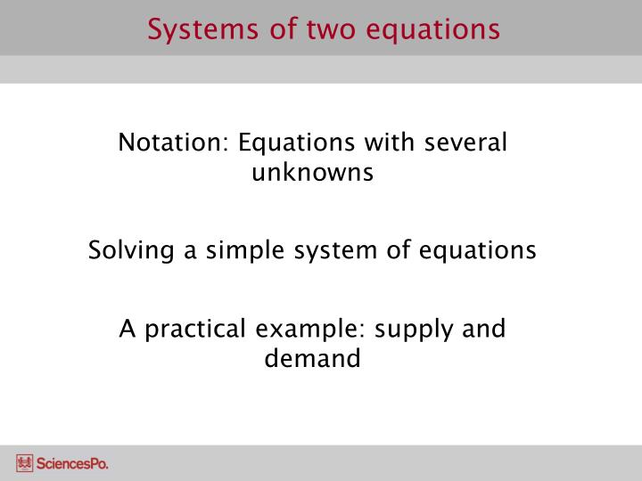 Systems of two equations1