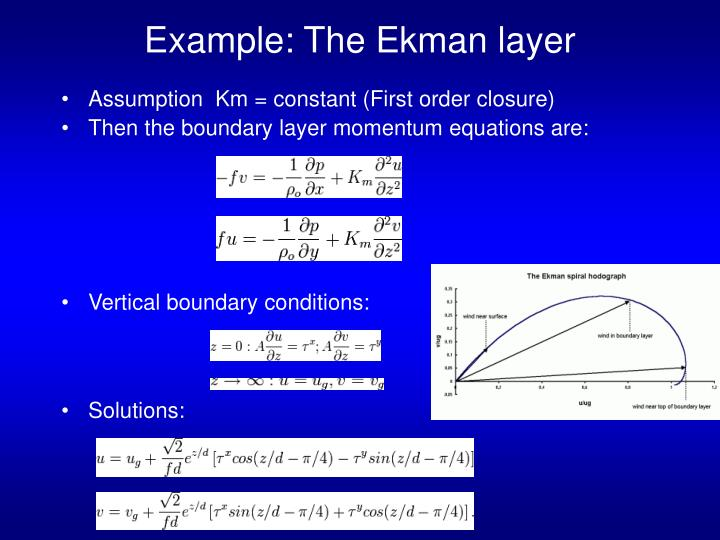 Example: The Ekman layer