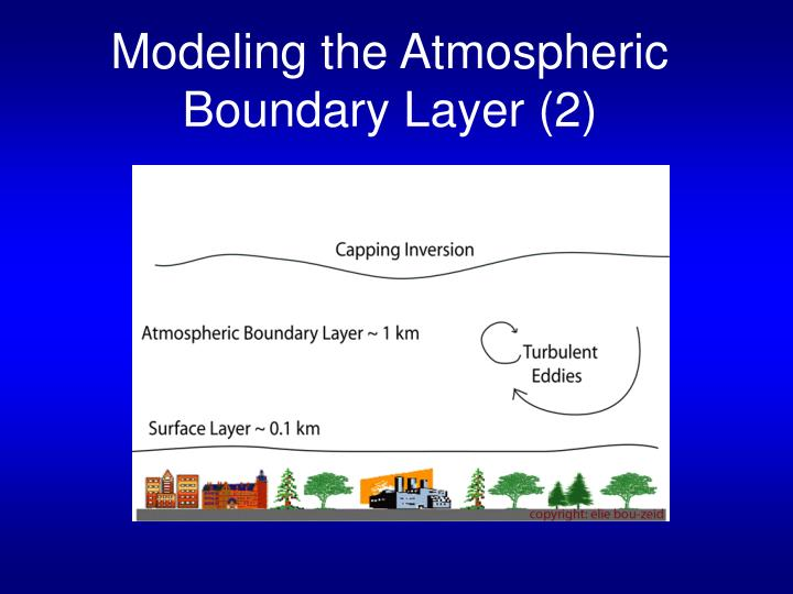Modeling the atmospheric boundary layer 2