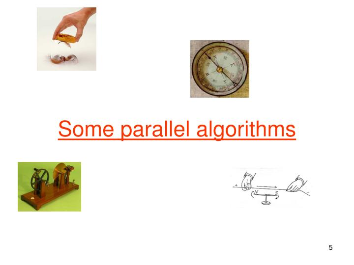 Some parallel algorithms