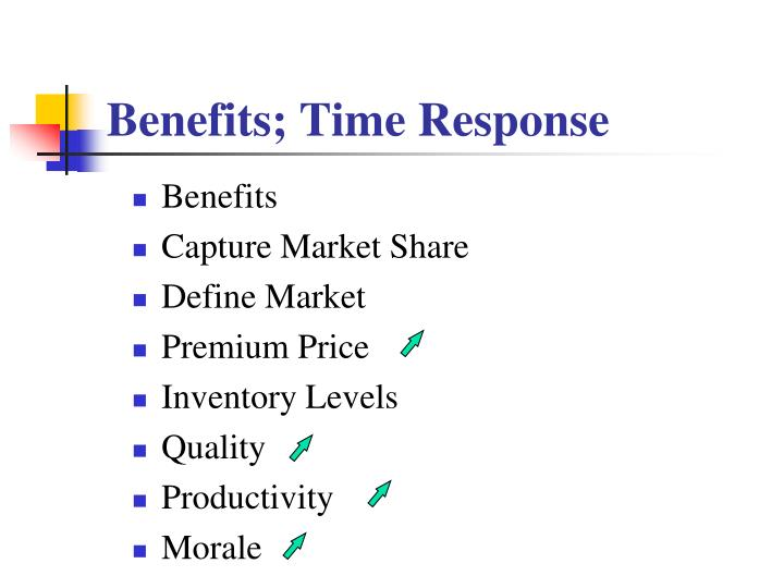 Benefits; Time Response