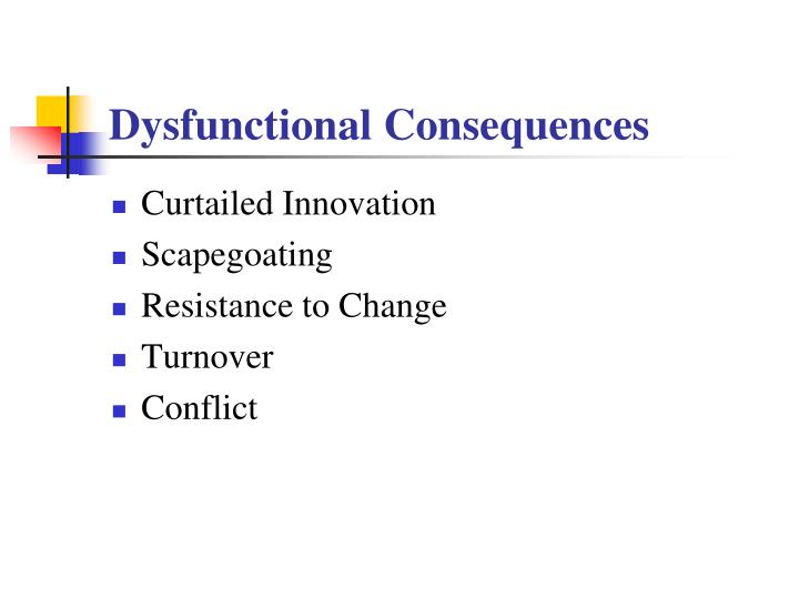 Dysfunctional Consequences
