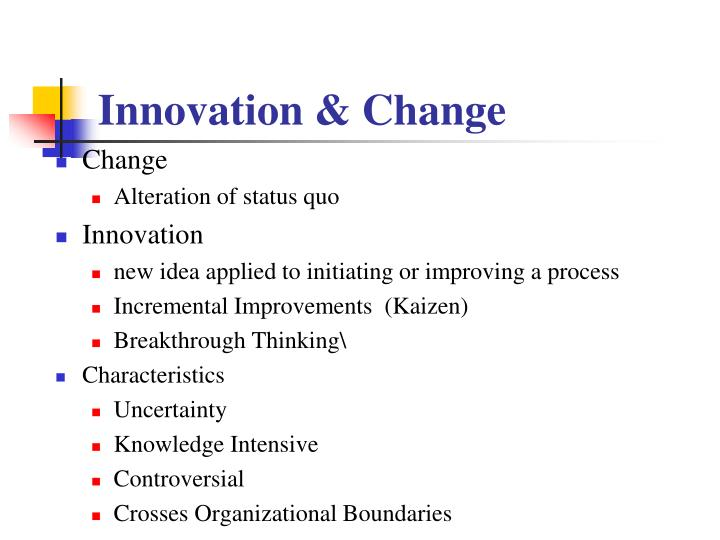 Innovation & Change