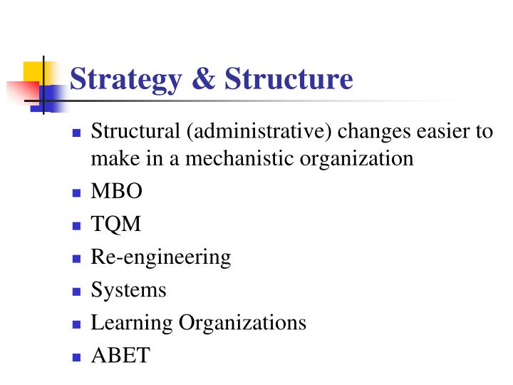 Strategy & Structure