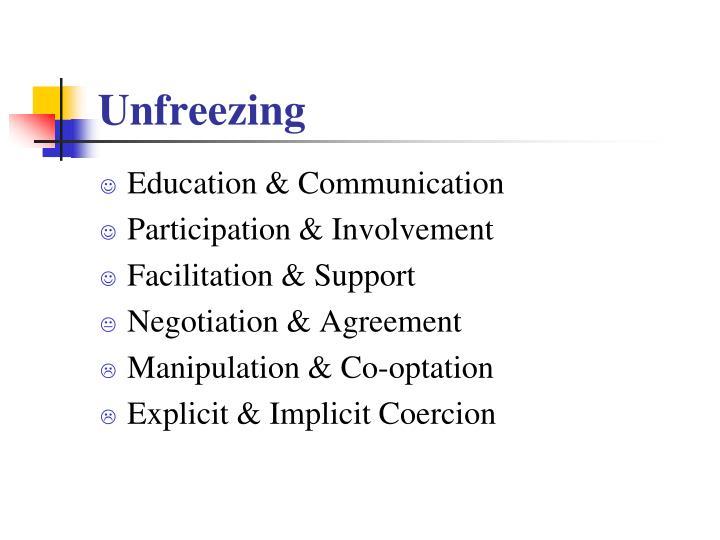 Unfreezing