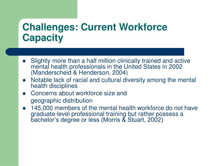 Challenges: Current Workforce Capacity