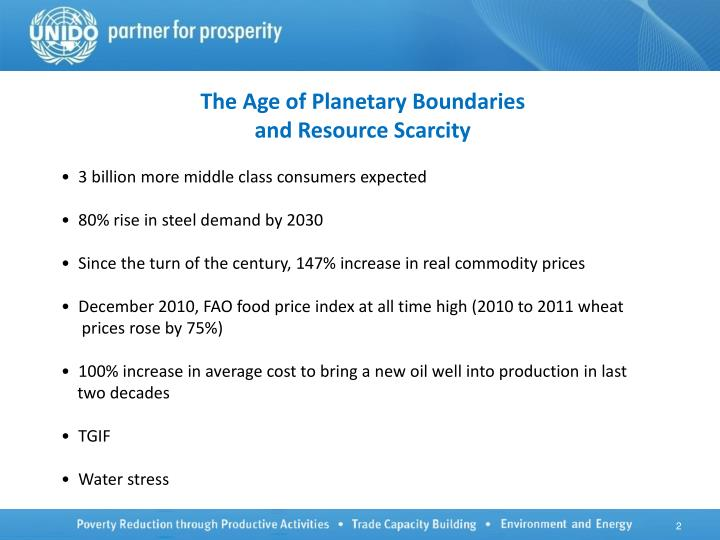 The Age of Planetary Boundaries