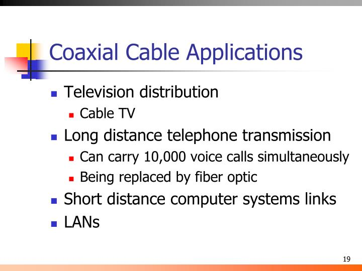 Coaxial Cable Applications