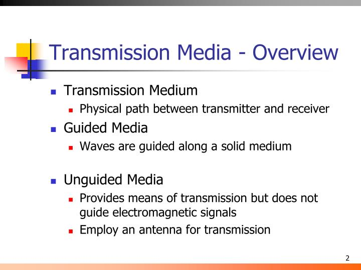 Transmission media overview