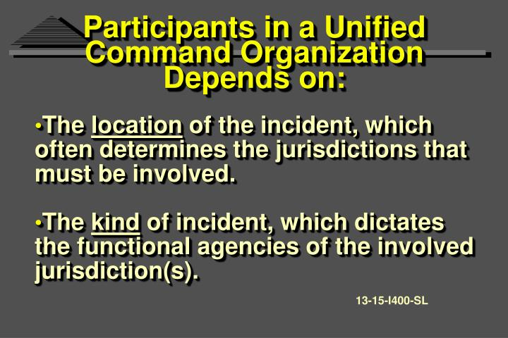 Participants in a Unified Command Organization