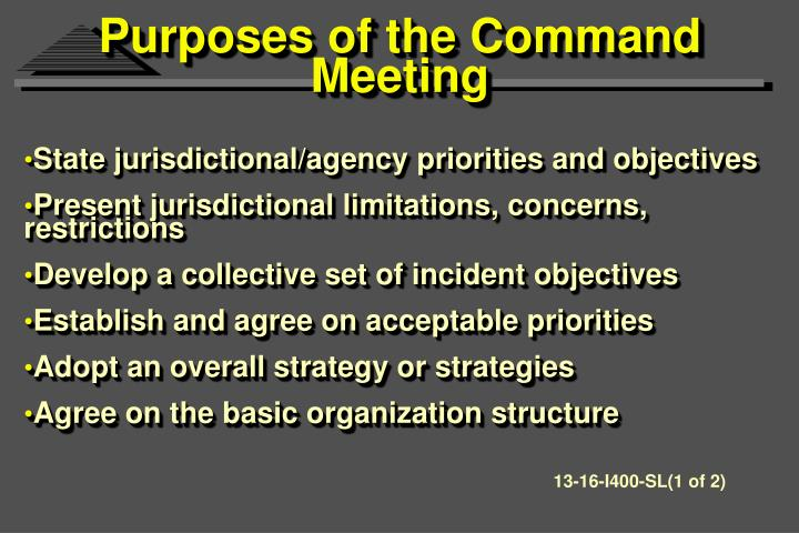Purposes of the Command Meeting