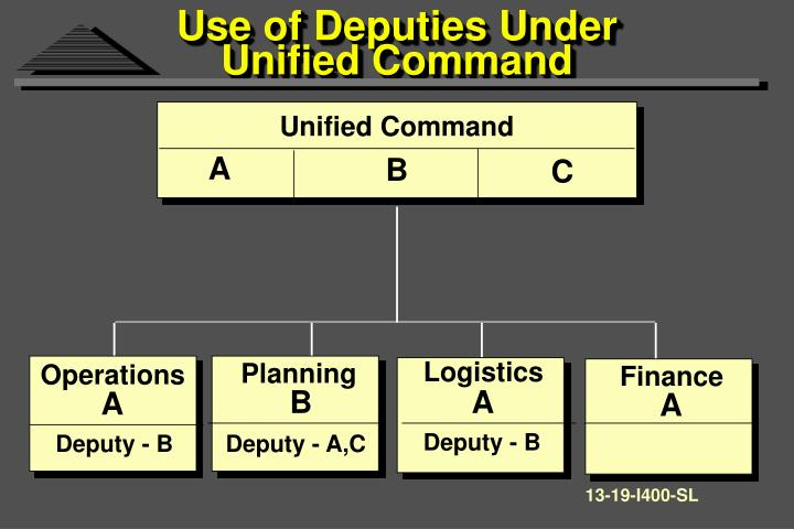 Use of Deputies Under Unified Command