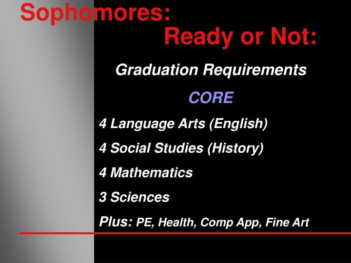 Sophomores: