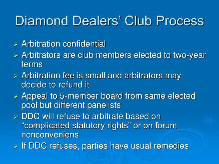 Diamond Dealers' Club Process