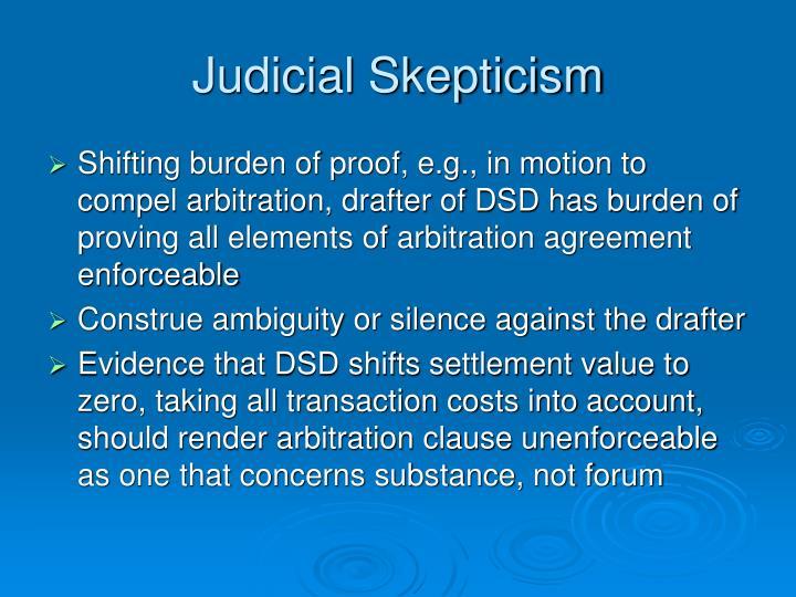 Judicial Skepticism