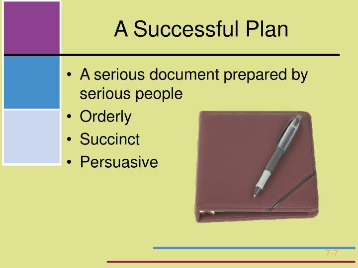 A Successful Plan