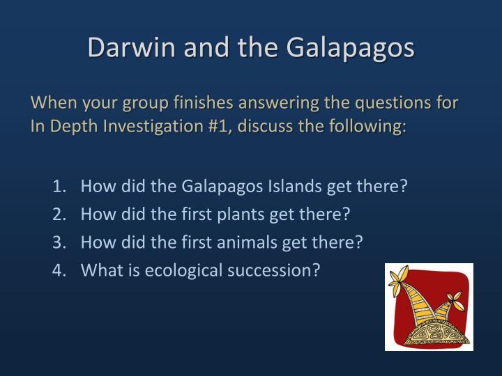 Darwin and the Galapagos