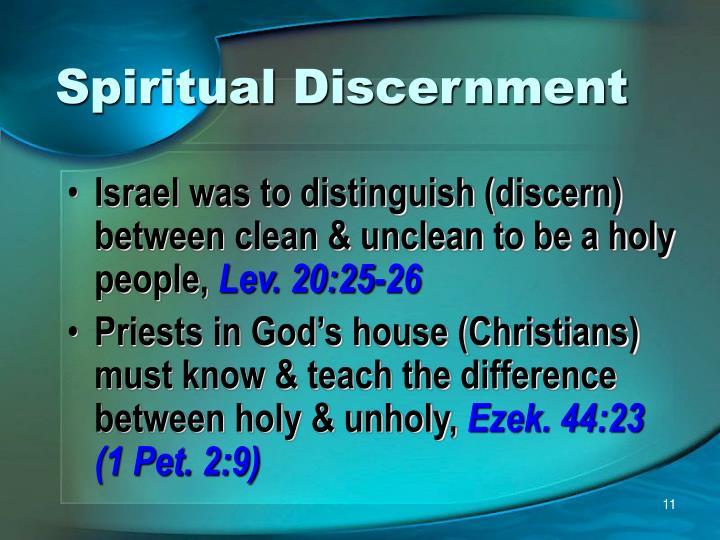 Spiritual Discernment