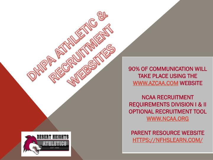 DHPA ATHLETIC & RECRUITMENT WEBSITES