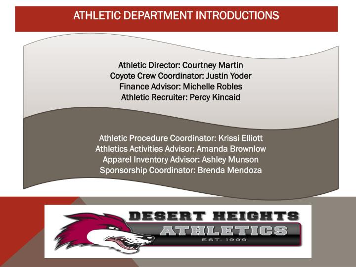 Athletic Director: Courtney Martin