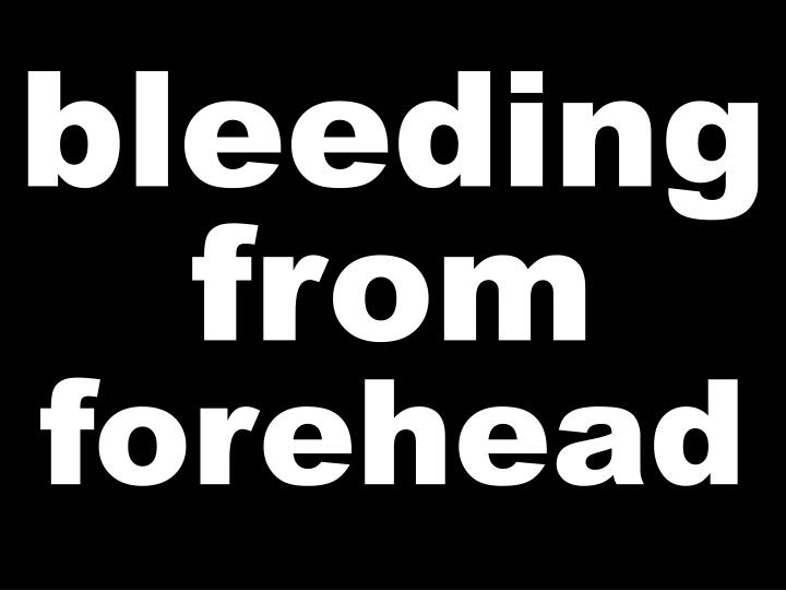 bleedingfrom