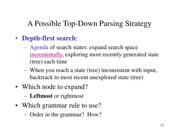 A Possible Top-Down Parsing Strategy