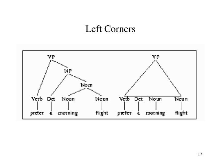 Left Corners