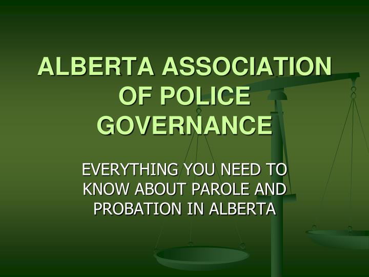 Alberta association of police governance