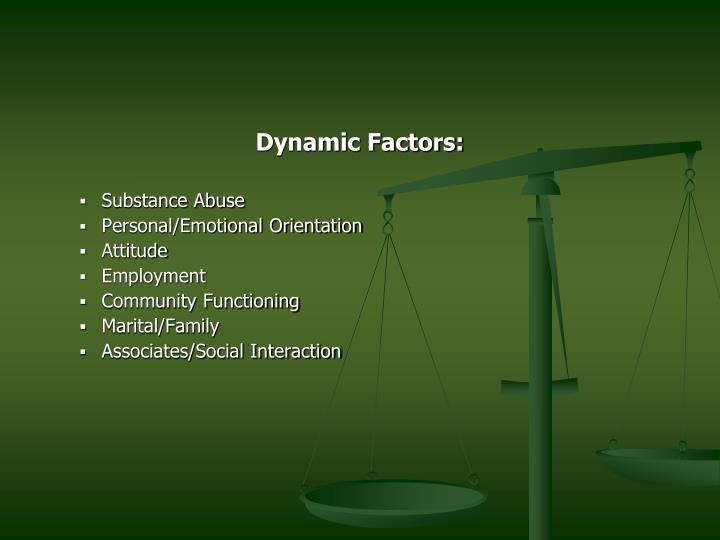 Dynamic Factors: