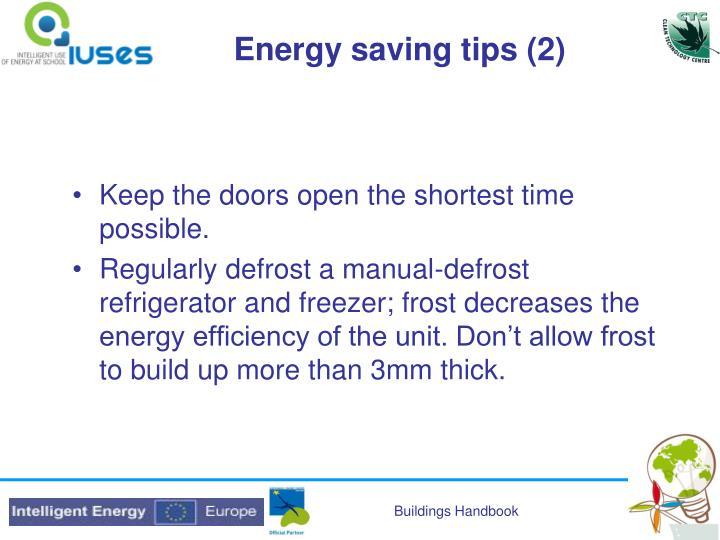 Energy saving tips (2)