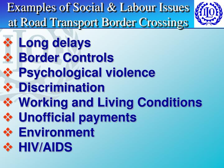 Examples of Social & Labour Issues
