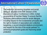 international labour organization23